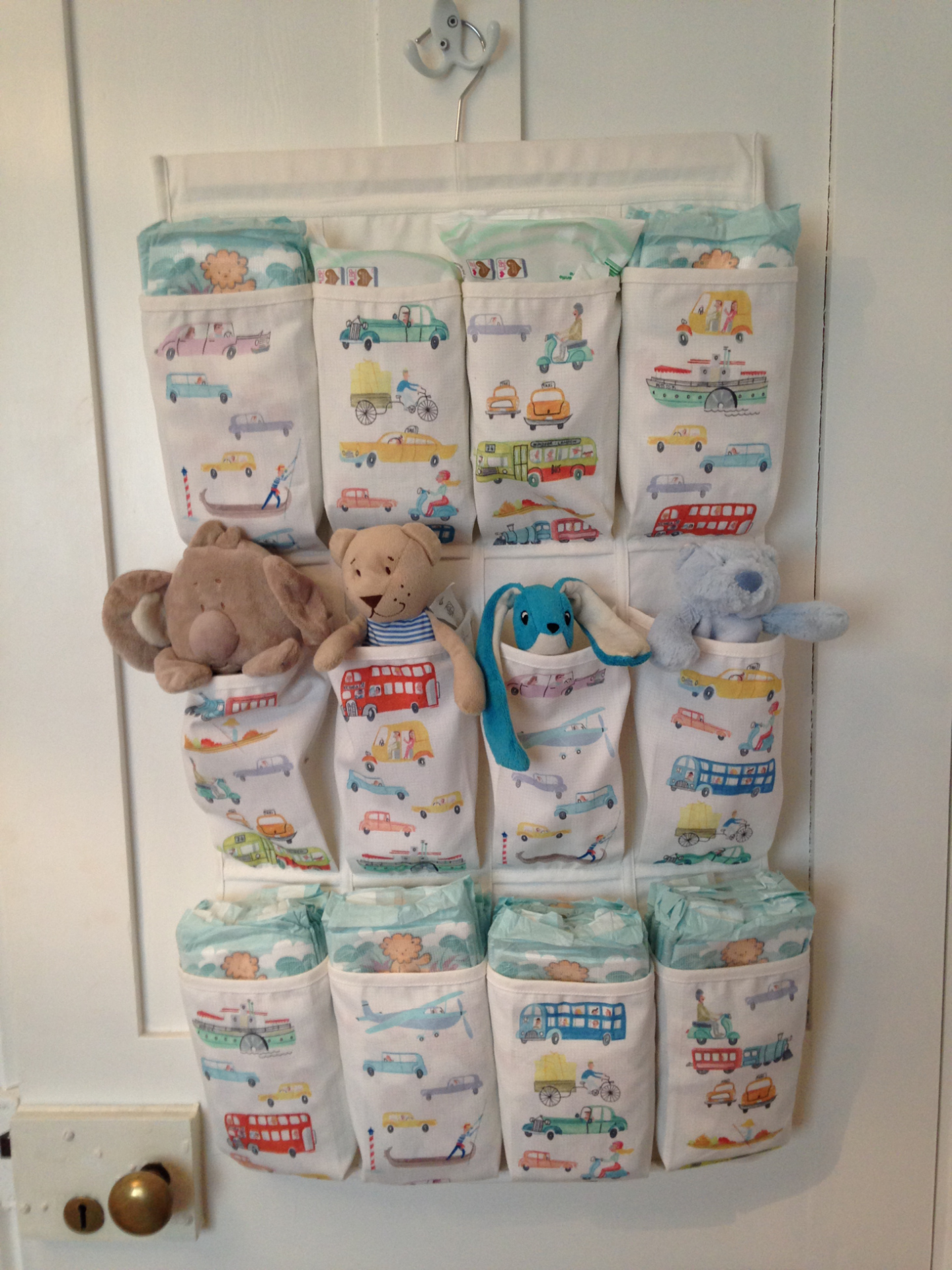 Space Saving Hack for Nappies & Wipes